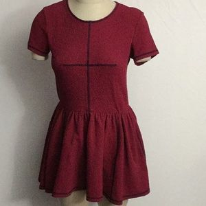 Opening Ceremony Pull On Drop Waist Dress Sz M Red
